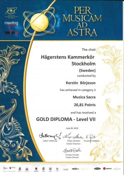 HKK Gold Diploma VII S Musica Sacra
