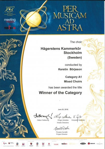 HKK Winner A1 Mixed Choirs