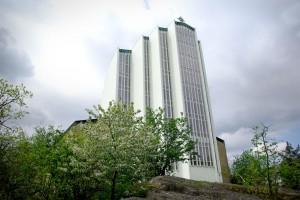 Uppenbarelsekyrka i Hägersten, invigd 1952